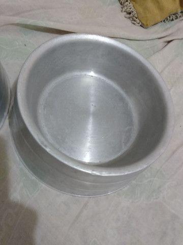 Comedouro e bebedouro de alumino - Foto 2