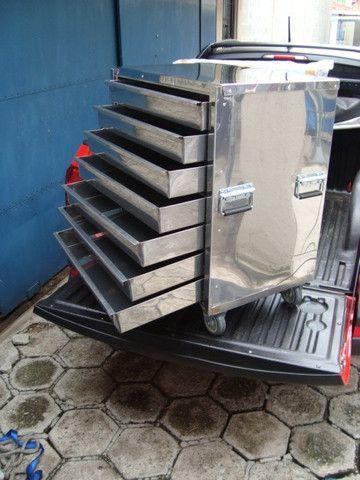 Gaveteiro Térmico Inox/Armário Para Pastéis - Pasteleiro de Feira Pagamento Facilitado - Foto 4