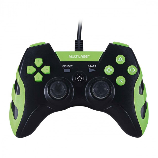 Controle Gamer Ps3 E Pc Preto E Verde Js091 Multilaser
