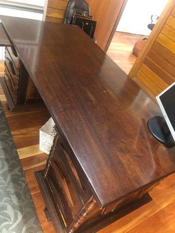 Escrivaninha antiga mesa escritório - Foto 5