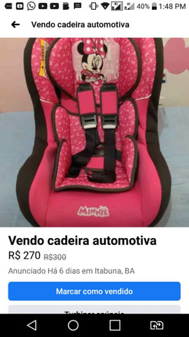 Vendo cadeira automotiva da Disney - Foto 2