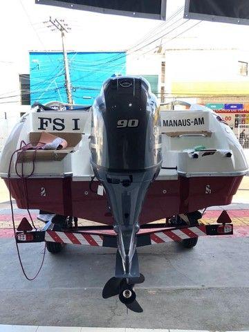Barco com Motor Yamaha 90 HP  - Foto 4