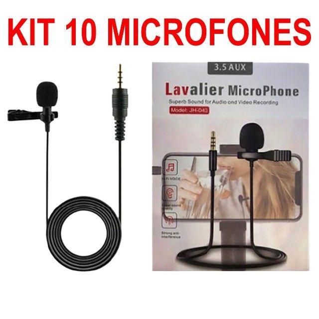 10 Microfones de Lapela P3 Gamer, Lives, TikTok, Celular. **Atacado**