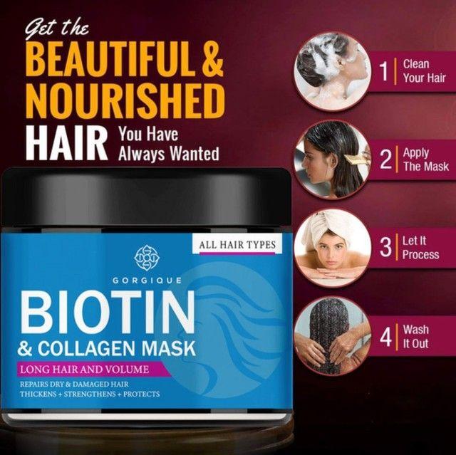 Biotin - Máscara de Queratina Restauradora Capilar - 1 Unidade<br><br> - Foto 3