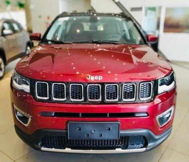 Jeep Compass Limited Flex 2021 Okm A Pronta Entrega Melhor Preço da Baixada !!! - Foto 2