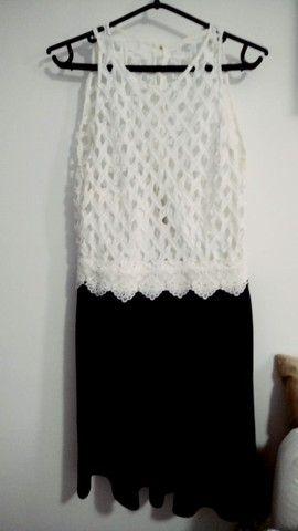 Vestido de Festa Preto e Branco - Usado poucas vezes