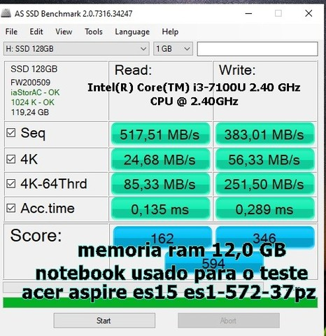 HD Ssd capacidade: 120gb - Foto 4