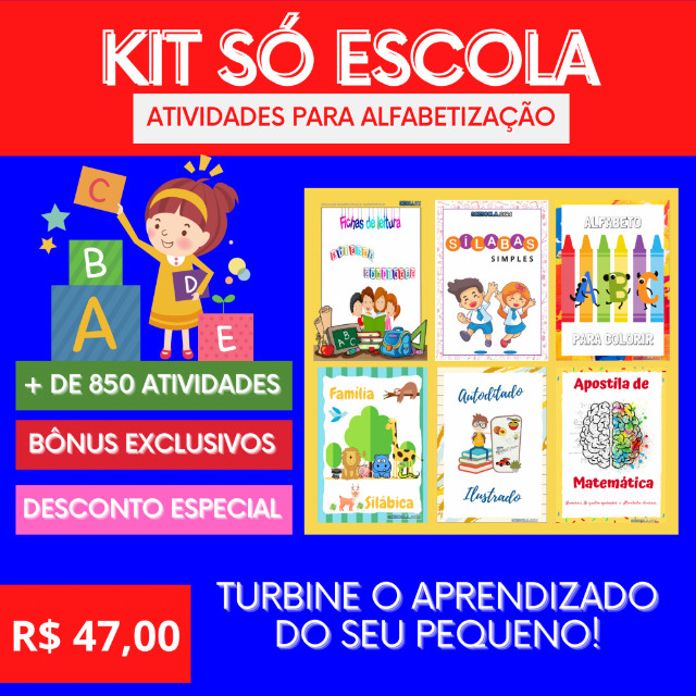 .:: Kit de Atividades Alfabetização Infantil :: - Foto 6