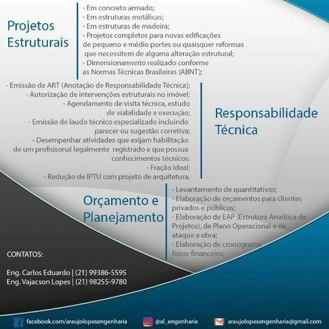 Projetos Estruturais, Laudos e Serviços de Engenharia - Foto 4