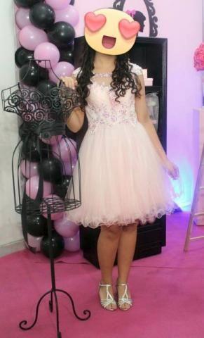 Vestido debutante curto, 15 anos, festa