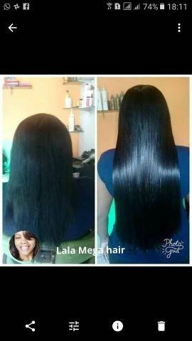 Manutenção de mega-hair a domicilio