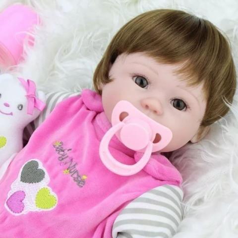 Bebê Reborn Boneca Silicone Baby * Pronta Entrega