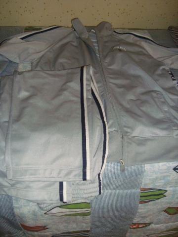 Abrigo masculino cinza + bermuda nova