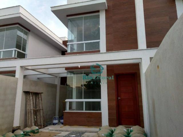 Casa com 3 dormitórios à venda, 115 m² por R$ 370.000 - Ouro Verde - Rio das Ostras/RJ - Foto 2