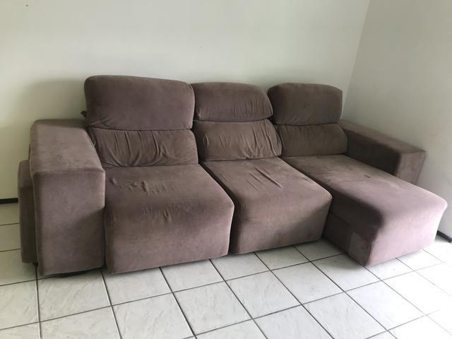 Astonishing Sofa 3 Lugares Retratil Chaise Machost Co Dining Chair Design Ideas Machostcouk