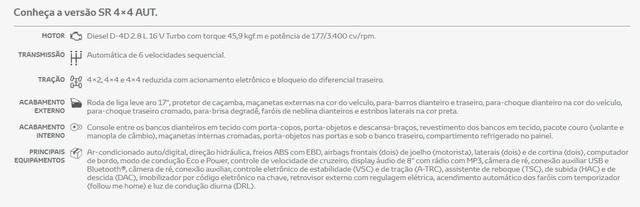 Toyota Hilux SR CD 2.8 Diesel 4x4 Aut 19/20 0km IPVA 2020 pago - Foto 4