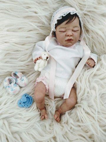 Reborn mini bebezinha pronta entrega  - Foto 3