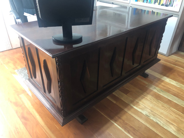 Escrivaninha antiga mesa escritório - Foto 2