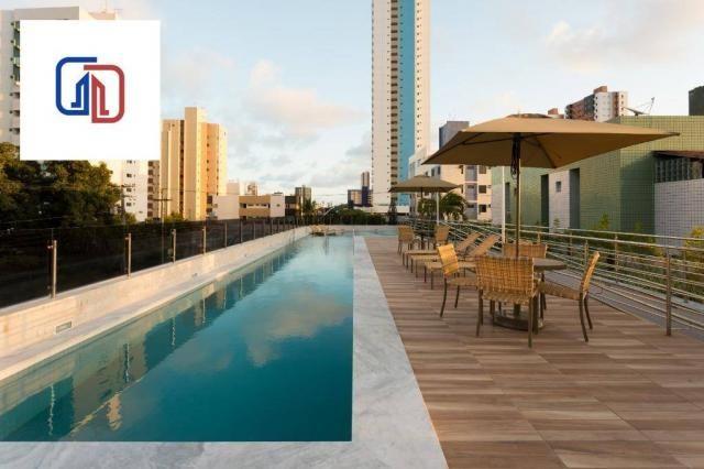Apartamento com 2 dormitórios à venda, 62 m² por R$ 377.137 - Manaíra - João Pessoa/PB - Foto 4