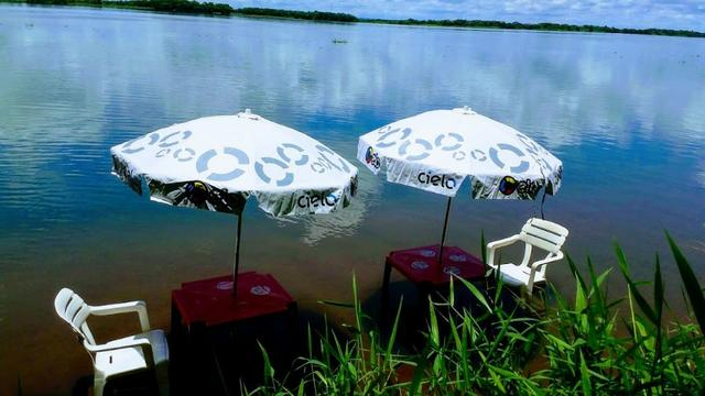 Rancho Pé Na Areia em Paulicéia sp rio no fundo com vista panorâmica - Foto 2