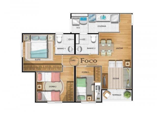 Apartamento com 3 dormitórios à venda, 62 m² por R$ 303.126 - Macedo - Guarulhos/SP - Foto 17