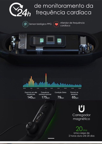 Relógio Smartwatch Pulseira Xiaomi Mi Band 5 - Original a pronta entrega - Foto 6
