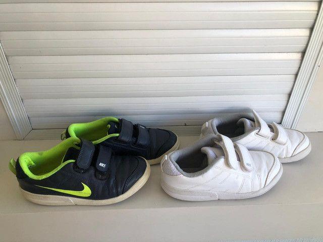 Dois tênis Nike infantil tamanho 30