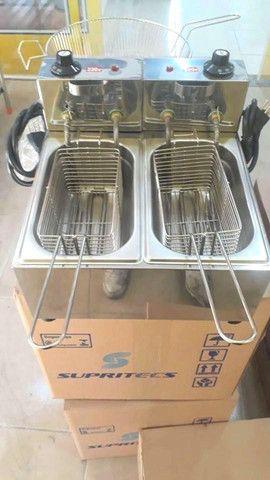 Fritadeira elétrica 2 cubas ( 10 litros )