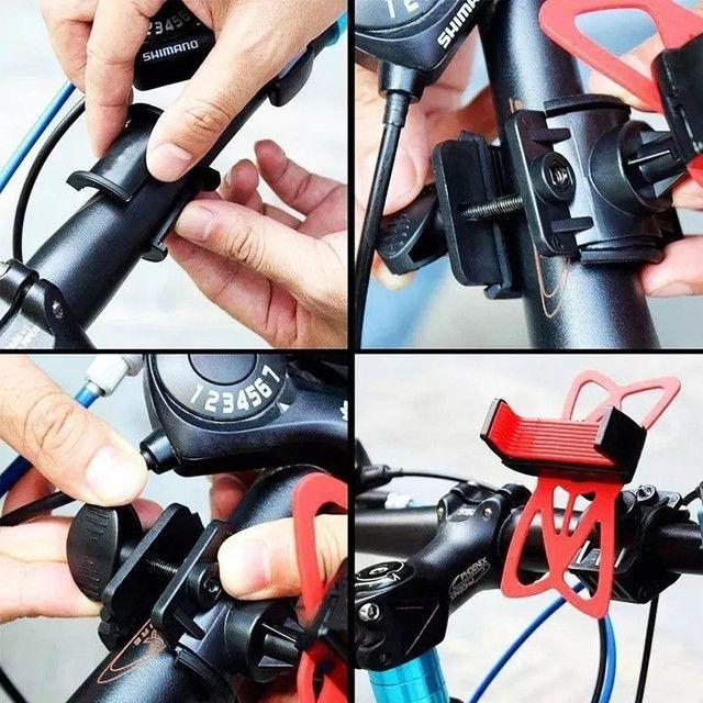 Suporte Bicicleta E Moto Celular Universal Tomate Mtg-015  - Foto 2