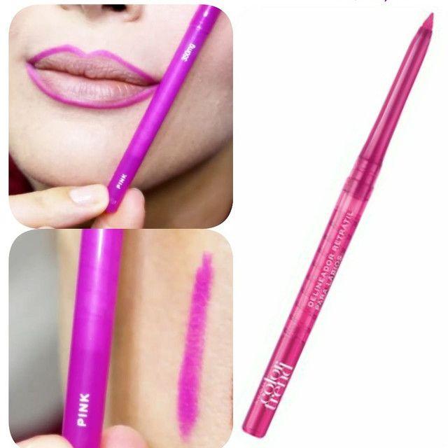 Delineador para Contorno dos Lábios Retrátil Avon - 350 mg Pink Santana-AP Nova Brasília