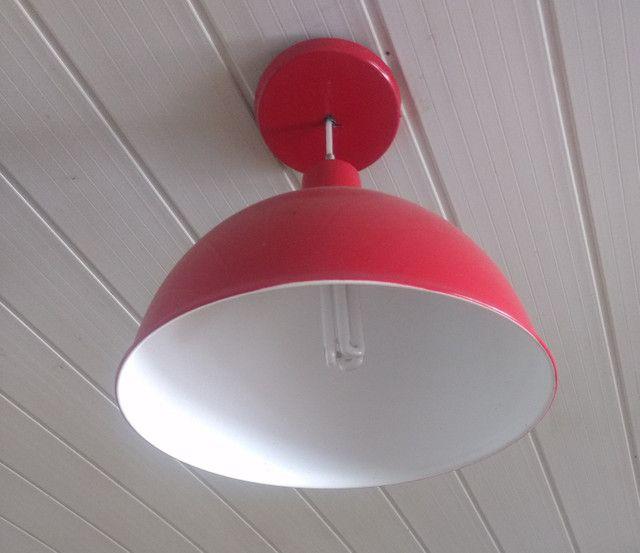 Luminária vermelha - Foto 2