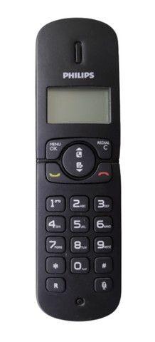 Telefone Sem Fio Philips Cd180 Dect 6.0 Preto Seminovo Com Manual - Foto 2