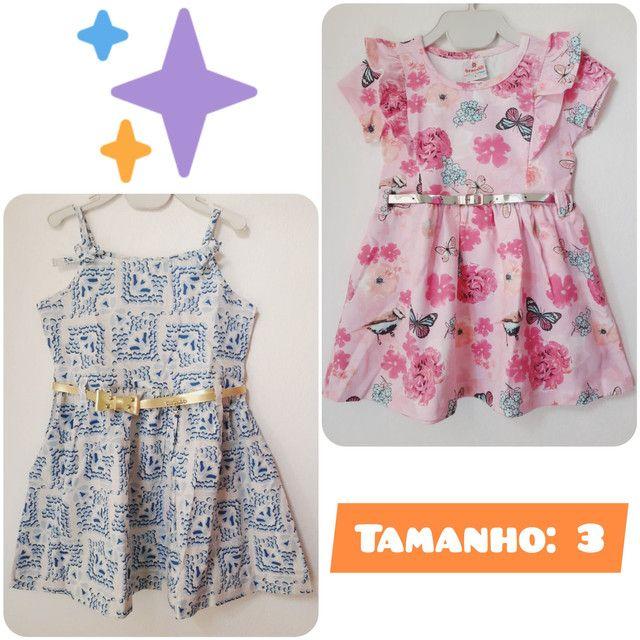 Kit 2 Vestidos Infantil Brandili