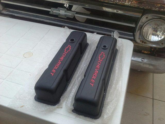 Tampas de válvulas cabeçote chevrolet 350 283 camaro corvette silverado c10 - Foto 2