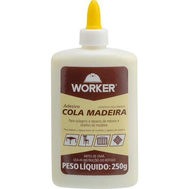 Cola Adesivo Cola para Madeira 250G Worker