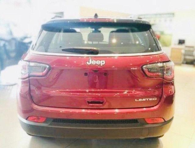Jeep Compass Limited Flex 2021 Okm A Pronta Entrega Melhor Preço da Baixada !!! - Foto 9