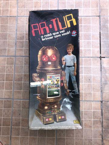 Robô Arthur - brinquedo antigo anos 80