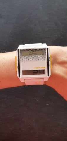 Relogio digital Digichord Vestal branco importado - Foto 3
