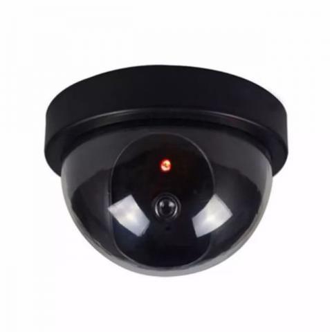 Câmera De Segurança Redonda Dome Infravermelho Falsa Com Led Novo