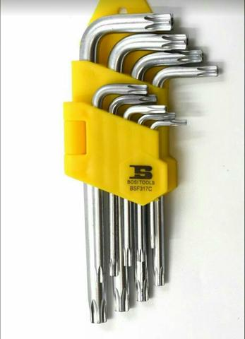 Kit chave torx 9 peças