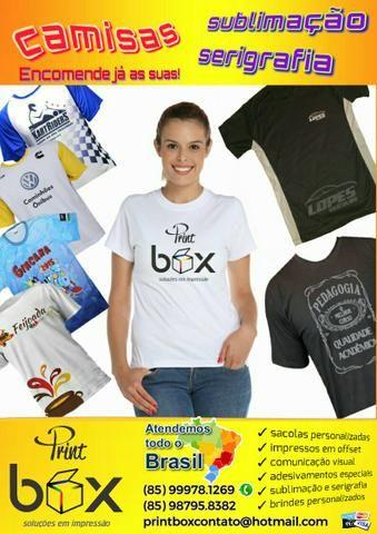 PrintBox: Camisas personalizadas - sublimação/seri