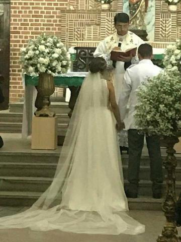 Vestido de noiva longo e curto 2 em 1