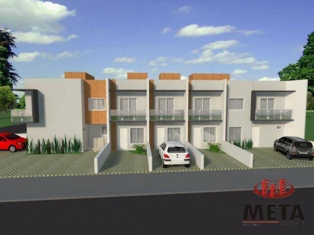 Sobrado com 2 dormitórios à venda, 68 m² por R$ 194.000,00 - Espinheiros - Joinville/SC