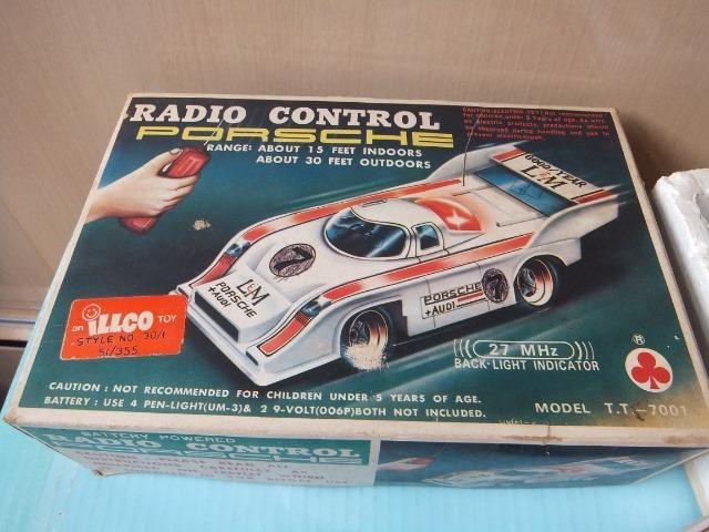 R$ 70 Porsche de controle remoto antigo, acompanha caixa!
