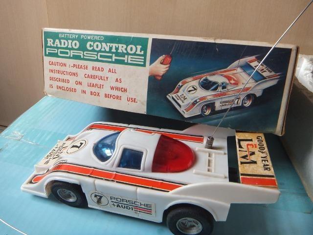 R$ 70 Porsche de controle remoto antigo, acompanha caixa! - Foto 2