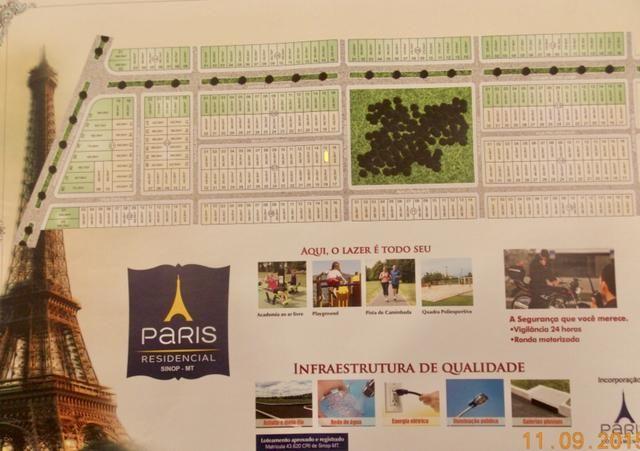 Terreno Residencial Paris Sinop - Quitado - Foto 4