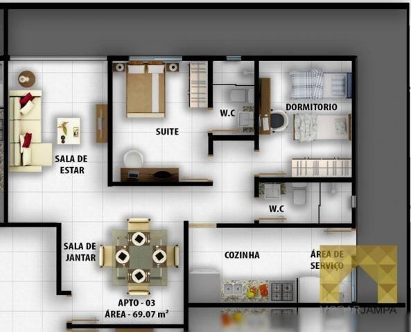 Apartamento com 2 Quartos à venda, 66 m² por R$ 178.000 - Castelo Branco - João Pessoa/PB - Foto 13