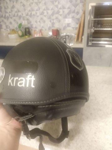 Capacete Kraft old school - Foto 5