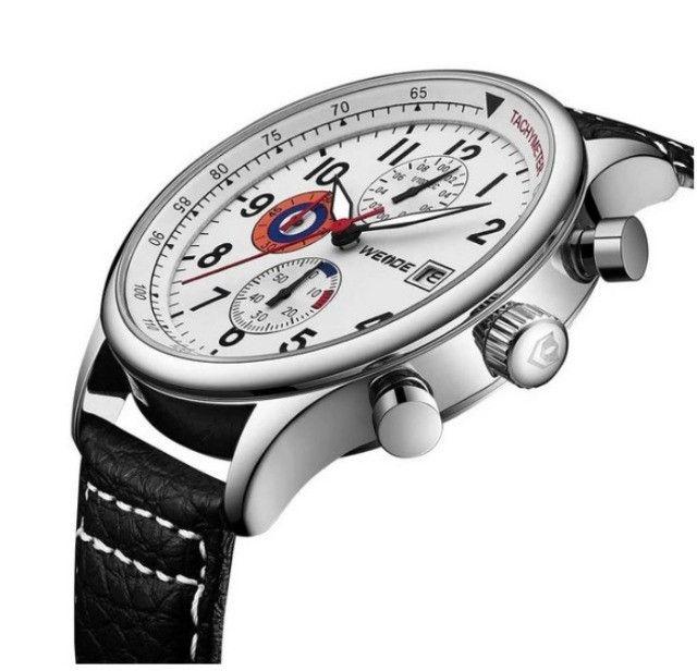 Relógio Masculino Weide Analógico Wd010 - Preto E Prata - Foto 2
