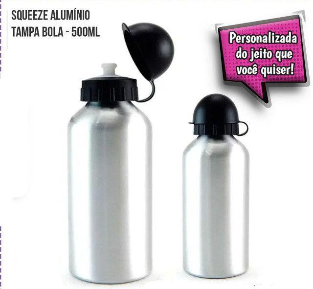 Squeeze Alumínio Personalizado 500ml = 29,00 - 600ml= 32,00 e 750ml =39,00 - Foto 3